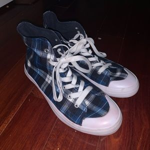 Converse Joe Boxer Hightop Plaid Sneakers